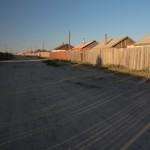 untypisch fuer die Mongolei, typisch fuer die Staedte: eingezaeunte Grundstuecke
