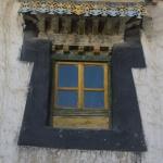 Typische tibetische Fenster