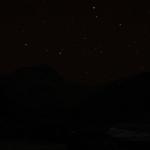 Erster Blick auf Mt. Everest im Sternenlicht