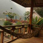 Blick aus unserem Bungalow in Muong Ngoi